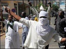 Protesters in Nairobi, 15/01