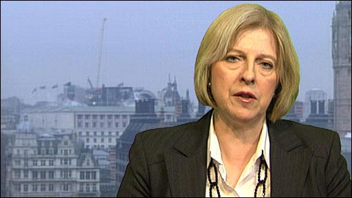 Shadow Work and Pensions Secretary Theresa May