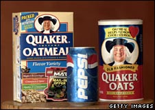 Quaker Oats with Pepsi can