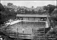 Company swimming baths for Cadbury's workers