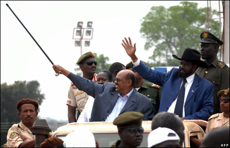 President Bashir and the south's President Kiir