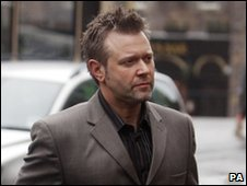 Darren Day arriving at court