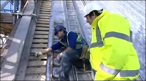 Repairing the roof of Canterbury Cathedral