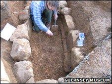Iron age grave