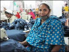 Garment worker Shulie in the Windy Group factory