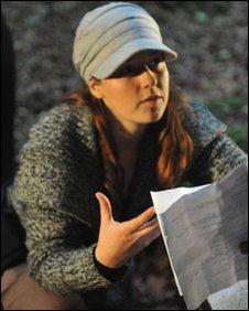 Kate Madison while directing Born of Hope