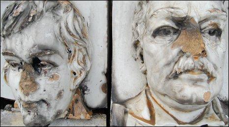 Broken busts