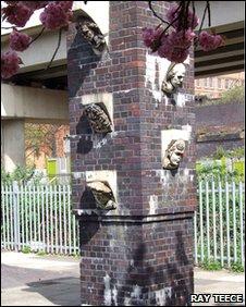 Busts on a pillar