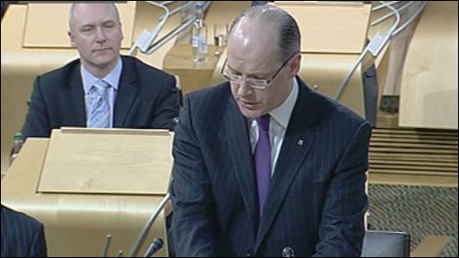 Finance Secretary John Swinney opened the debate