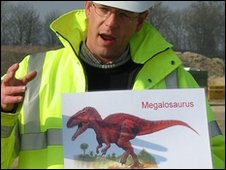 A picture of a Megalosaurus, a type of dinosaur believed to have left tracks at the site (pic: Oxfordshire Geology Trust)