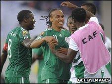 Osaze Odemwingie celebrates his opening goal