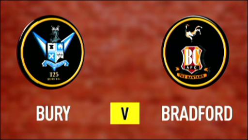 Bury 2-1 Bradford