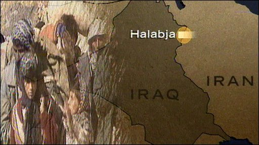 Map showing Iraq Iran border