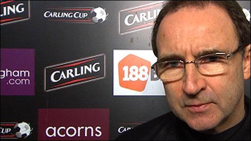 Aston Villa manager Martin O'Neill