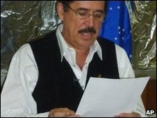 Ousted Honduras President Manuel Zelaya. File photo