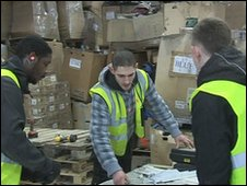 Michael West and colleagues and plastics recycling centre