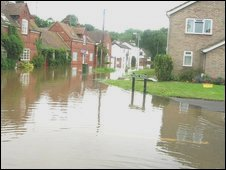 Kempsey hit by flooding in July 2007