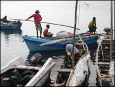 Fishing boats in Jaffna
