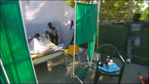 Haiti field hospital