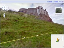 Lindisfarne Castle on Google Street View