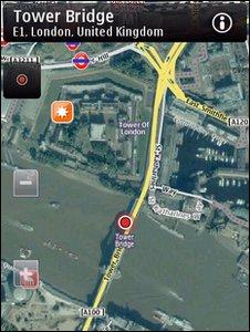 Nokia Ovi map
