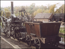 Richard Trevithick built his locomotive in Shropshire