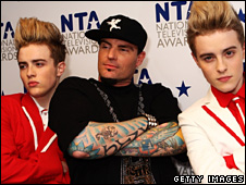 John and Edward with Vanilla Ice