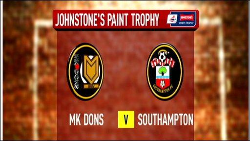 MK Dons 0-1 Southampton