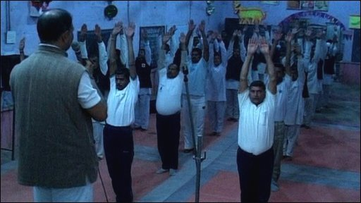Yoga at the Central Jail in Gwalior