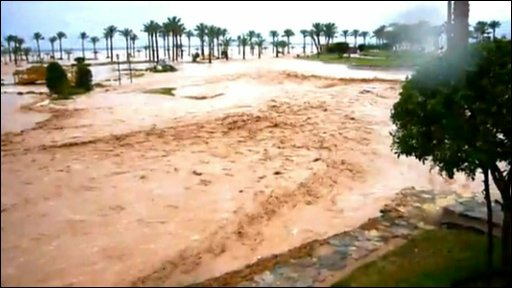 Flood in Taba, Egypt