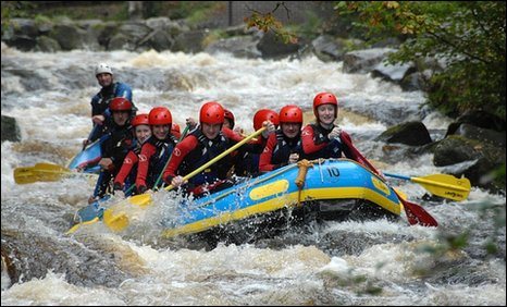 White water rafting centre in the Snowdonia National Park. pic BBC/Richard Sowersby
