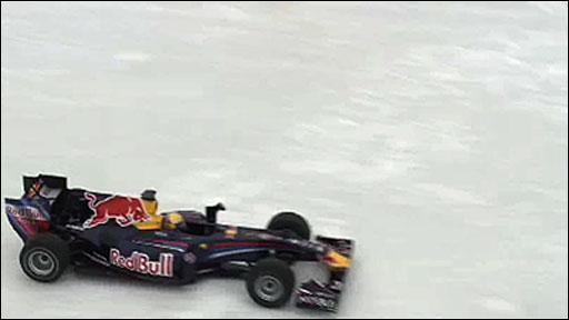 Toro Rosso's Sebastien Buem drives on Montreal's  Lac-a-l'eau-Claire