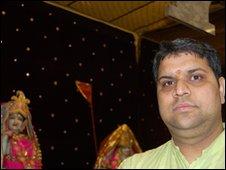 Gautam Balkrishan, the priest at the Bhaktpariwar Devotees Hindu Temple in Newcastle