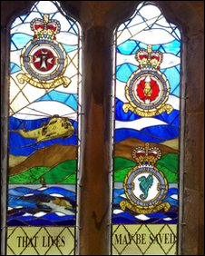 The stained glass window at RAF Valley