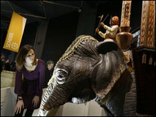 Visitors got close-up to an elephant clock - picture courtesy of Justin Sutcliffe