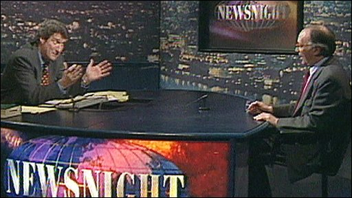 Jeremy Paxman interviewing Michael Howard in 1997