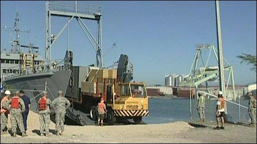 Haiti port