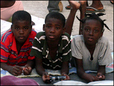 Children living on the streets of Port-au-Prince