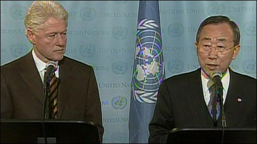 Bill Clinton and Ban Ki-moon