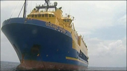 An Australian ship -  the Oceanic Viking