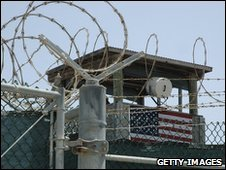 Watchtower at Guantanamo Bay prison (file image)