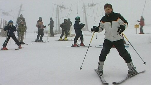 Mike Bushill joins skiers in Scotland on the slopes