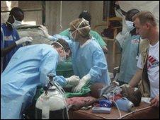 Surgeons in Haiti. Photo: Isabelle Jeanson