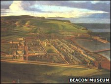 Birds Eye View of Whitehaven in Cumbria