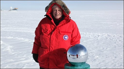 Sir David Attenborough at the South Pole