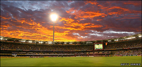 Sunset at the Gabba