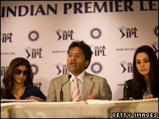 Shilpa Shetty, Lalit Modi and Preity Zinta