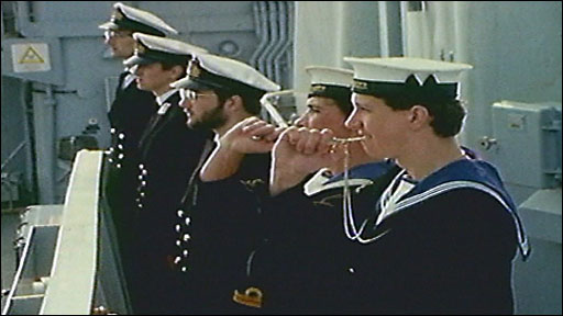 Sailors returning to Plymouth from Falklands War