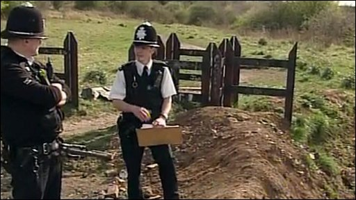 Police during the investigation