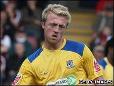Southampton striker Lee Barnard